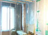 veekahju kipsplaadiga vooderdatud ruumis